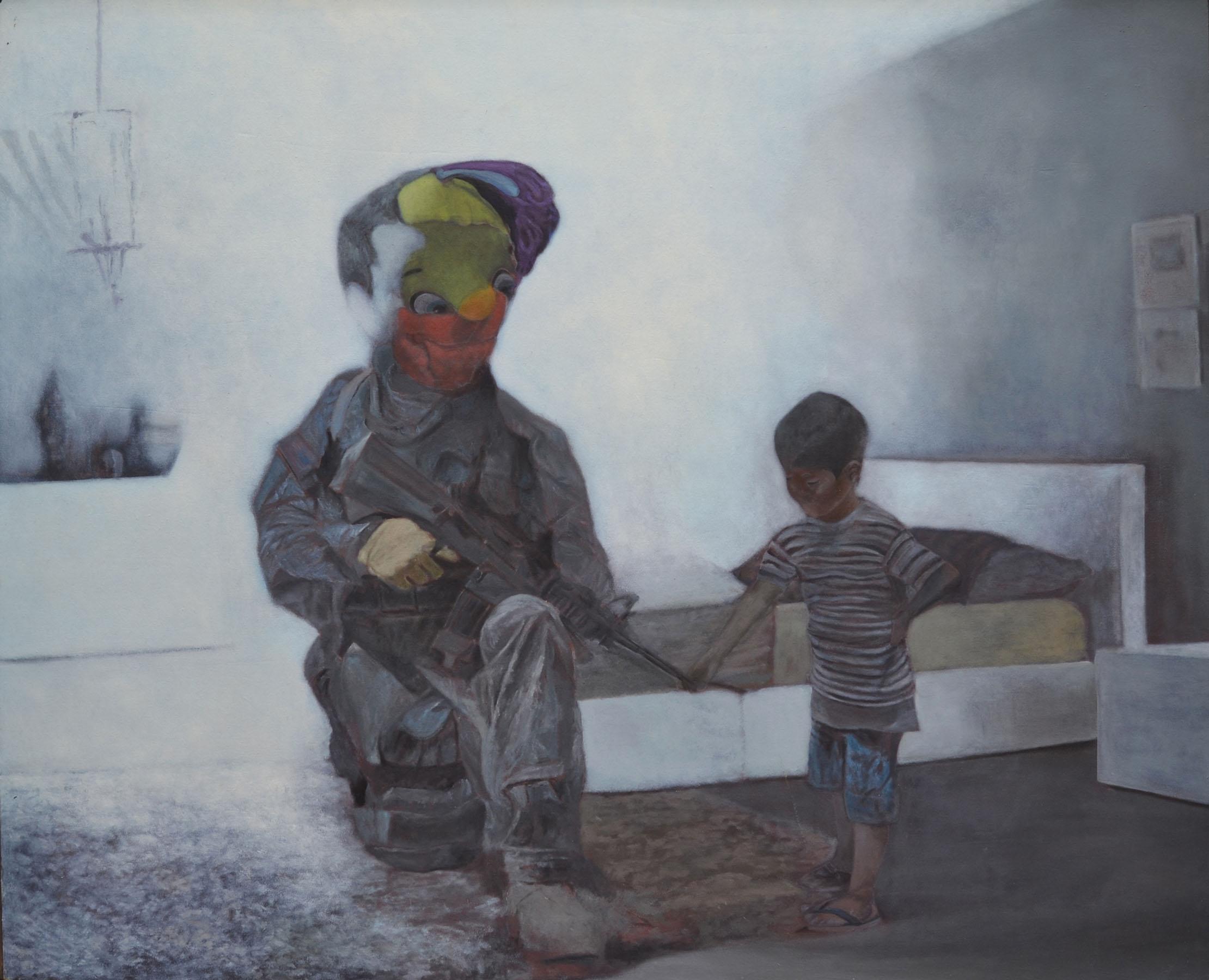 """""""El pedófilo"""", de Wilfredo Mercado, también forma parte de la exposición. (Foto suministrada)"""