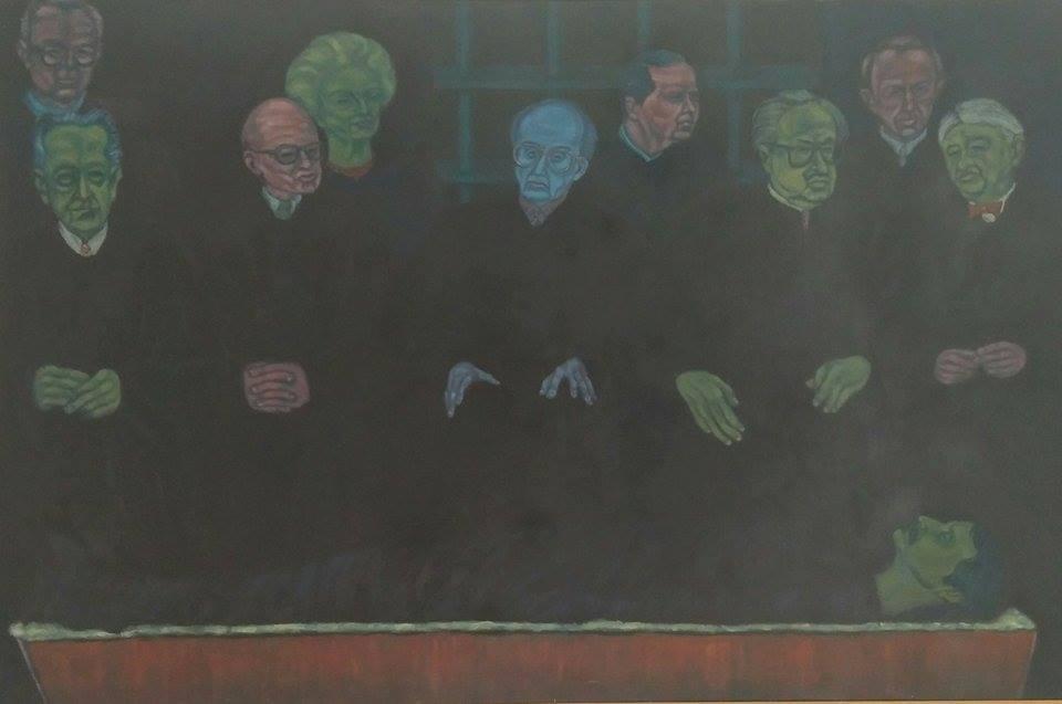"""""""La ficción"""", hecha por Elizam Escobar em 1991."""