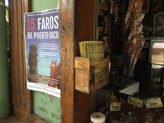 Promoción del documental en la plaza pública de Cabo Rojo. (Foto suministrada)
