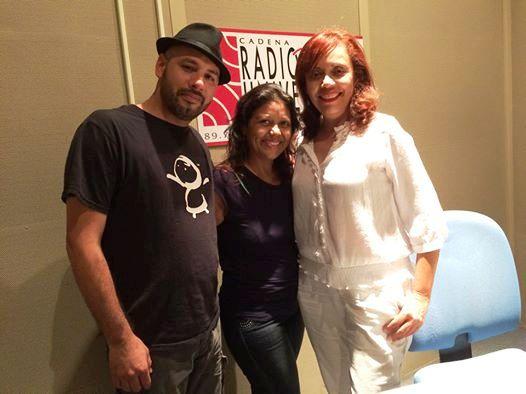Los treovadores Eduardo Villanueva y Yezenia Cruz fueron dos de los invitados de Felicié al nuevo programa radial. (Foto suministrada)