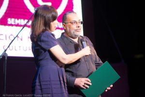 Irizarry Vizcarrondo marcó la primera vez en 20 años que el Instuto de Cultura reconoce la labor de la Fundación Nacional para la Cultura Popular. (Foto Alí Francis García para F.N.C.P.)