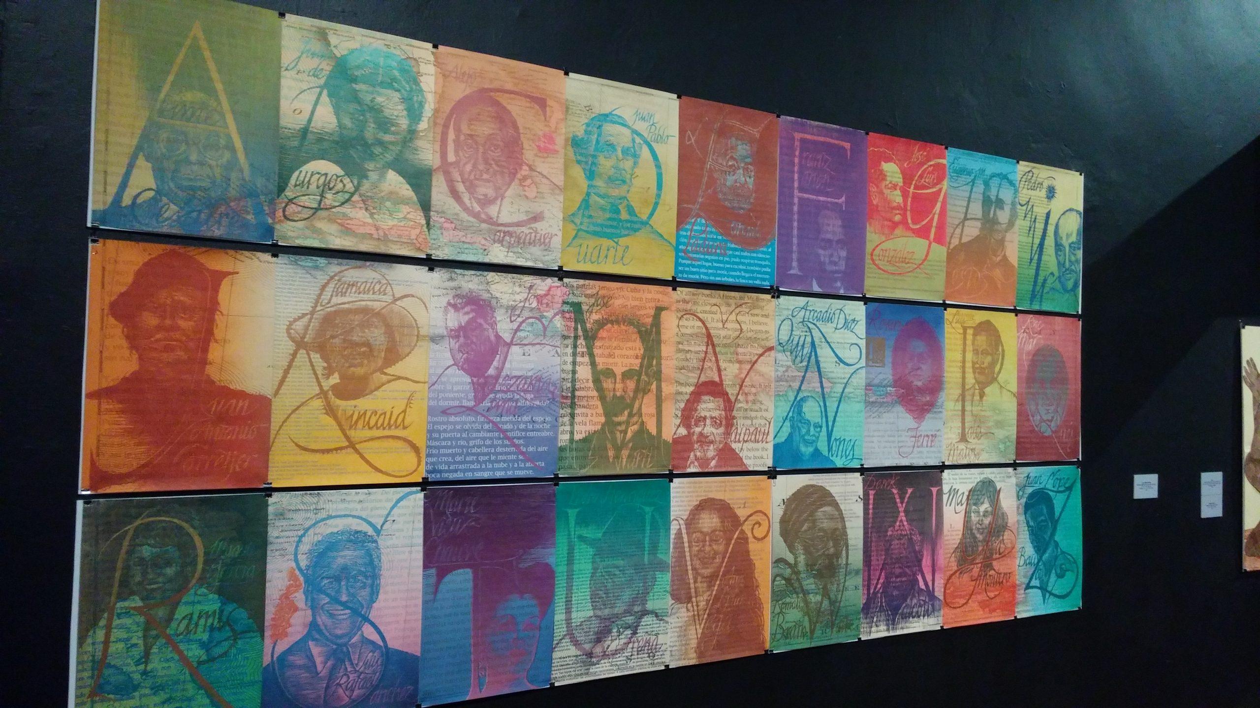 Toma de la pieza 'Las Antillas letradas', xilografía e impresión digital sobre papel de 2013. (Foto Gabriela Ortiz para Fundación Nacional para la Cultura Popular)