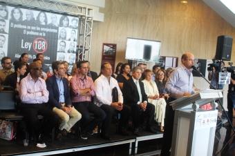 En conferencia de prensa, miembros de la Alianza 100% Clase Artística denunciaron los daños causado a la industria por la Ley 108 . (Foto Edgar Torres para Fundación Nacional para la Cultura Popular)