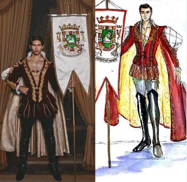 El diseño utilizado por el modelo xx en el concurso xx es una muestra de la creatividad de Edgardo Cortés. (Foto suministrada)