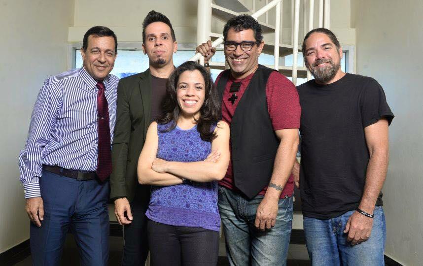 Los cantautores Rucco Gandía, Walter Morciglio, Nore Felciiano, Mikie Rivera y Tito Auger forman parte de la propuesta musical. (Foto suministrada)