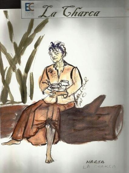"""Boceto de uno de las creaciones de Edgardo Cortés para """"La Charca"""". (Foto suministrada)"""