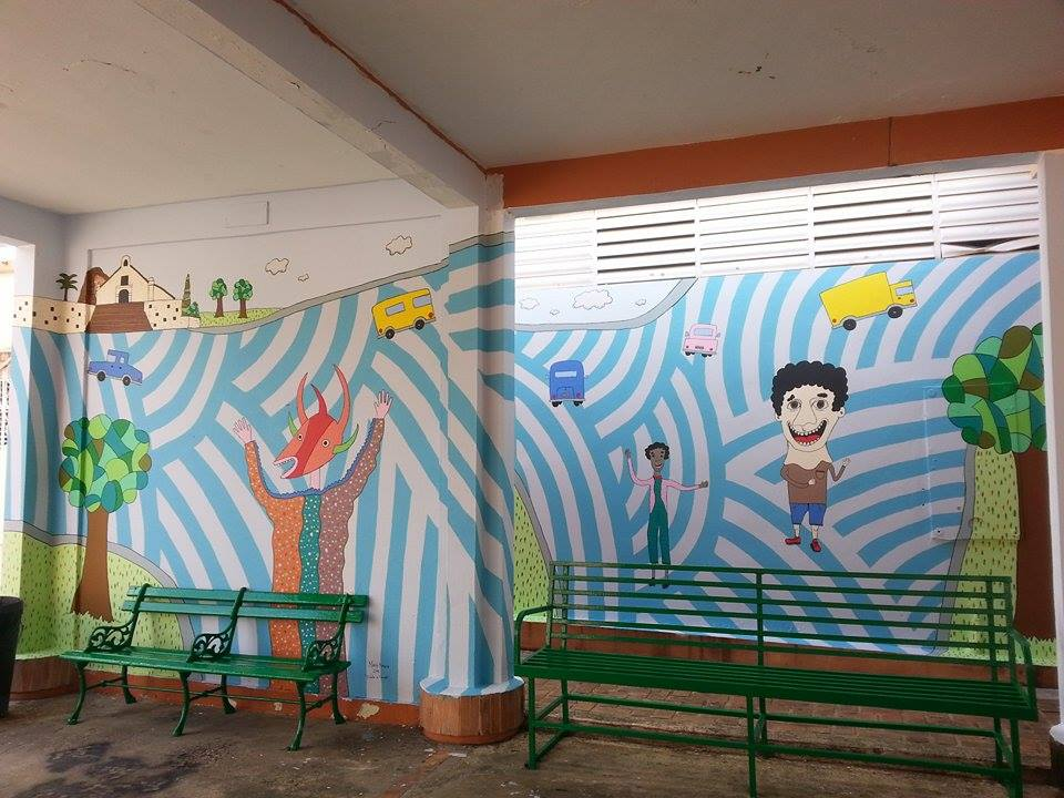 7 Mural de Monica Paredes basado en OBRA Vejigante 1993 de Carmelo Sobrino