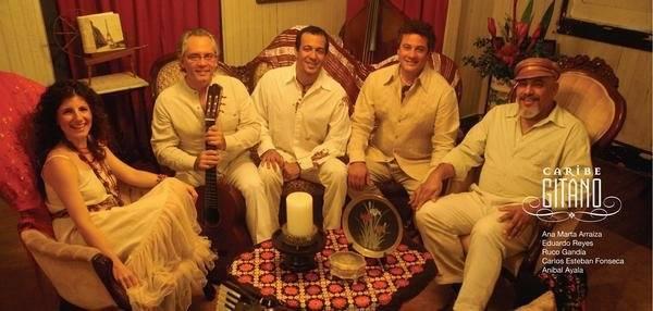 Caribe Gitano compuesto por Eduardo Reyes, Ana Marta Araiza, Ruco Gandía, Carlos Esteban Fonseca y Aníbal Ayala. (Foto suministrada)