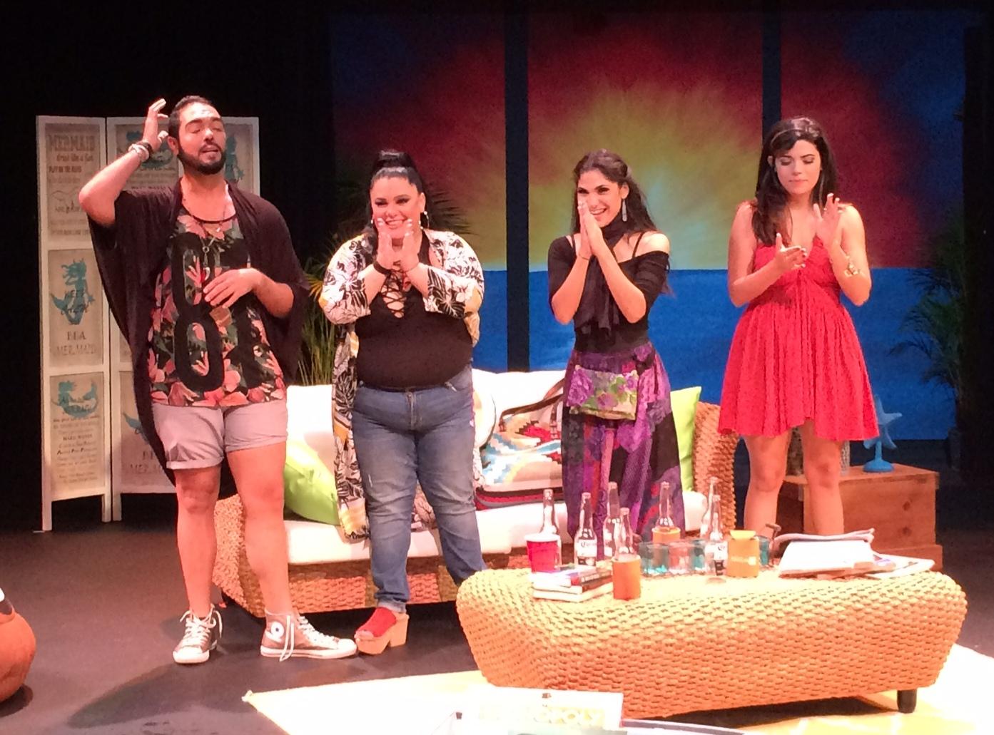 La atinada labor del elenco fue premiada por el público. (Foto Joselo Arroyo para Fundación Nacional para la Cultura Popular)