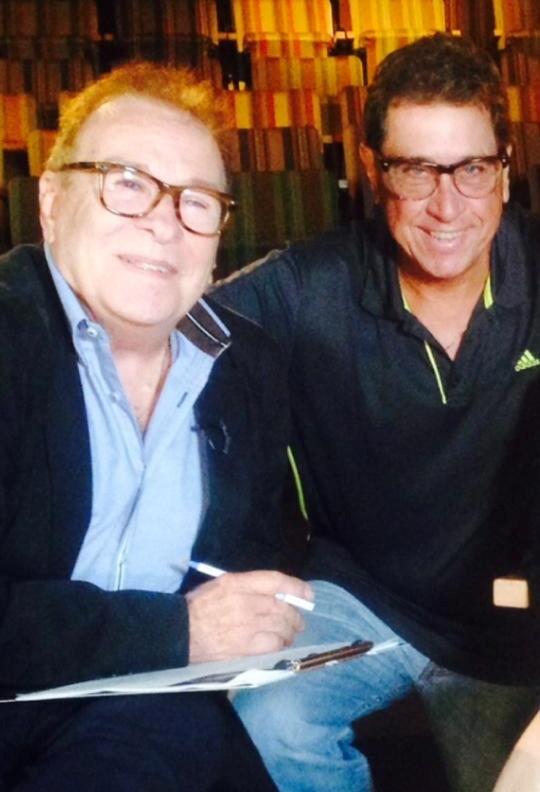 """Dean Zayas y el director Carlos Maldonado grabaron 14 programas en Nueva York para celebrar el aniversario de """"'Estudio Actoral"""". (Foto suministrada)"""
