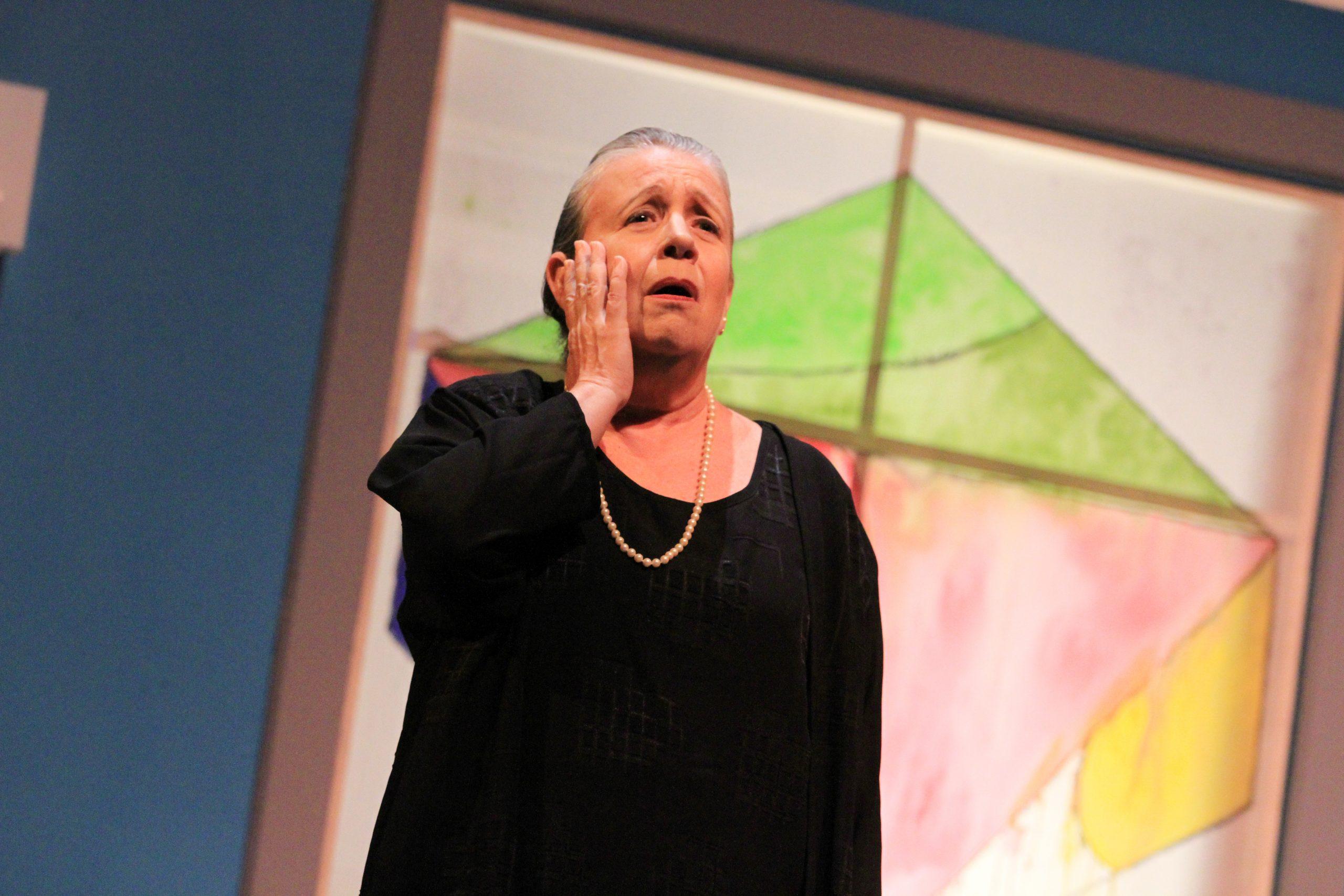 La actriz Georgina Borri ganó aplausos por su actuación. (Foto Cristina Martínez)