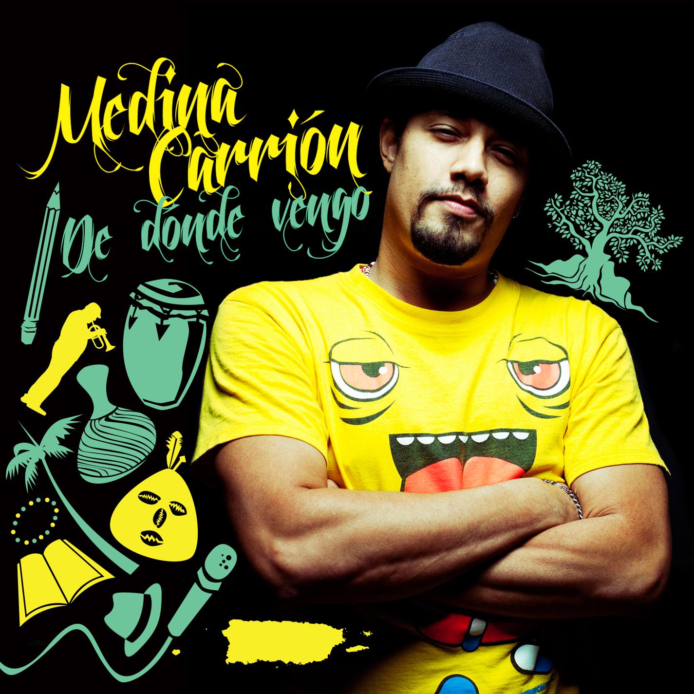 La carátula del nuevo disco de Medina Carrión cuenta con diseño del artista gráfico Beto Torrens y la fotografía de Luis Vidal. (Foto suministrada)