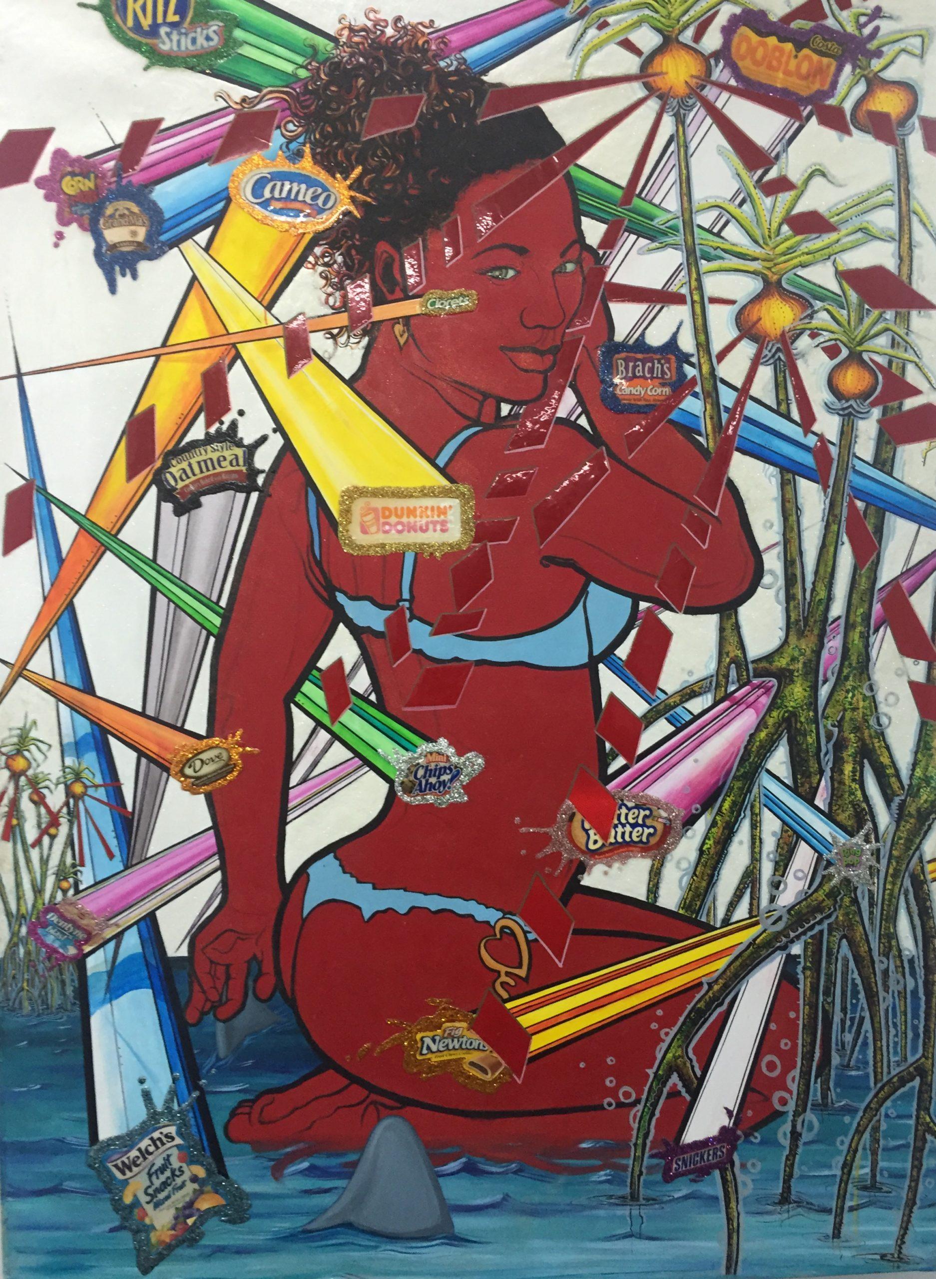 """La obra """"El poder de la cebolla"""" de Edgardo Larregui forma parte de la exhibición """"Rastreadas"""". (Foto suministrada)"""