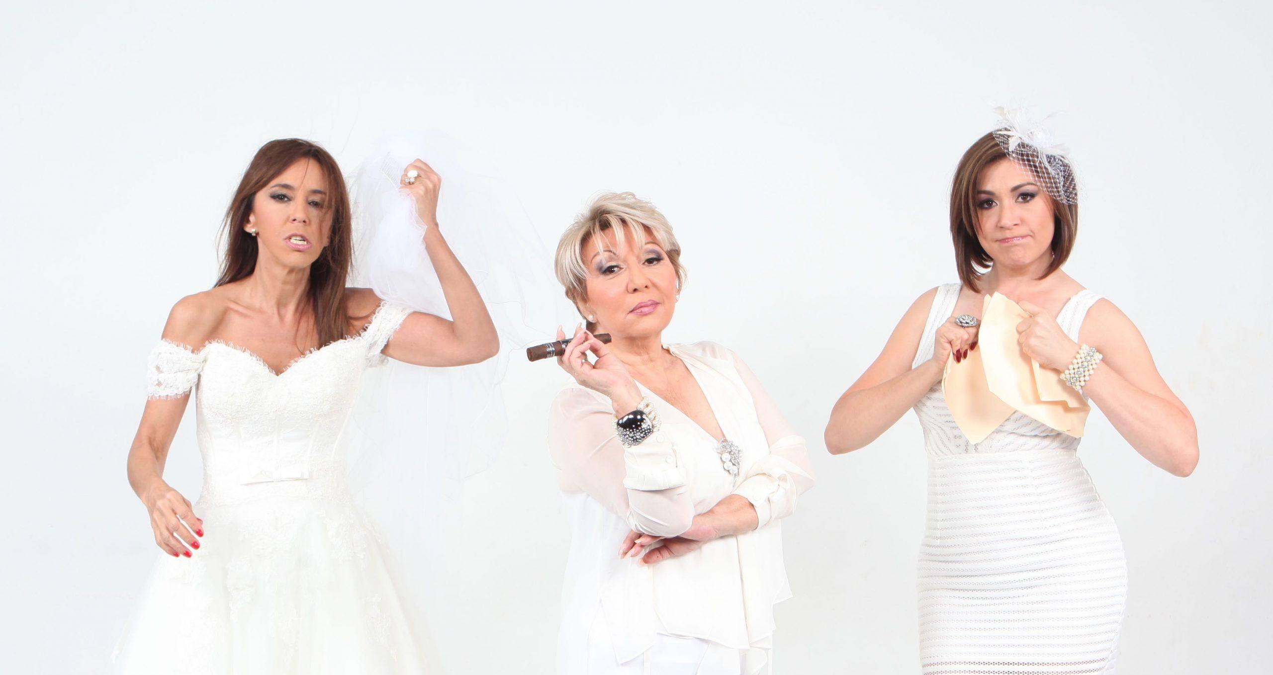 Gricel Mamery, Angela Meyer y Linnette Torres actuán en la nueva propuesta humorístic de Alexis Sebastian Méndez. (Foto suministrada)
