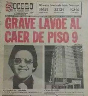 Primera plana del 27 de junio de 1988 el periódico El Vocero. (colección Jaime Torres Torres)