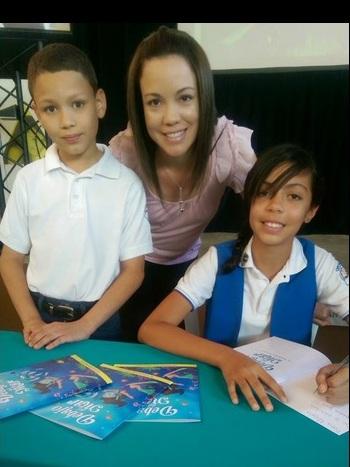 La joven autora cursa sexto grado de la Escuela Benita González Quiñonez de Caguas. (Foto suministrada)