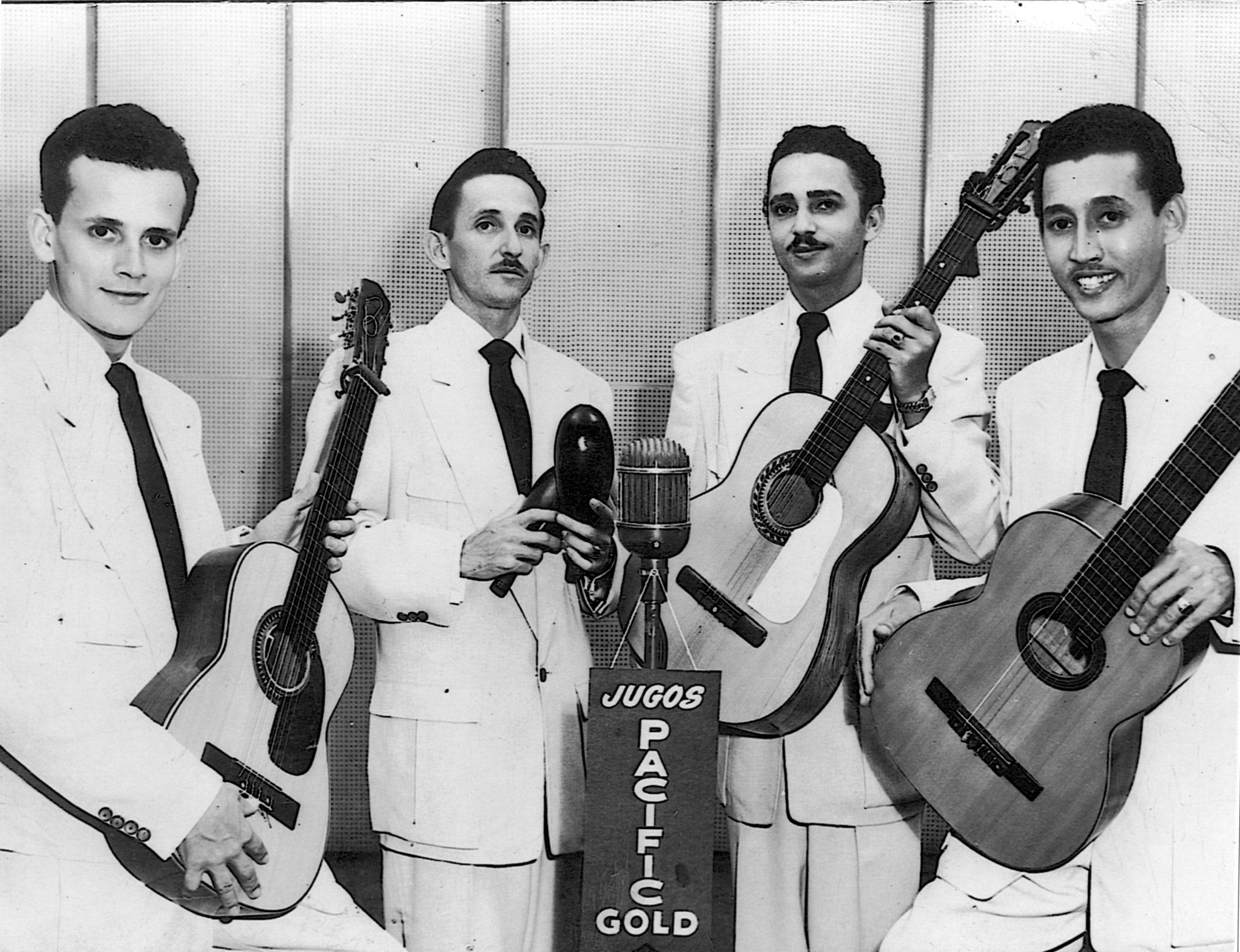 Scharron, en la época de oro con Felipe Rodríguez y Los Antares. (Foto suministrada)