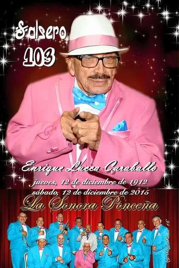 El pasado diciembre Don Quique celebró sus 103 años de vida. (colección Papo Lucca)