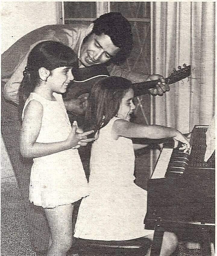 Tavín Pumarejo en un compartir en los años tempranos de la infancia de sus hijas. (Foto suministrada)