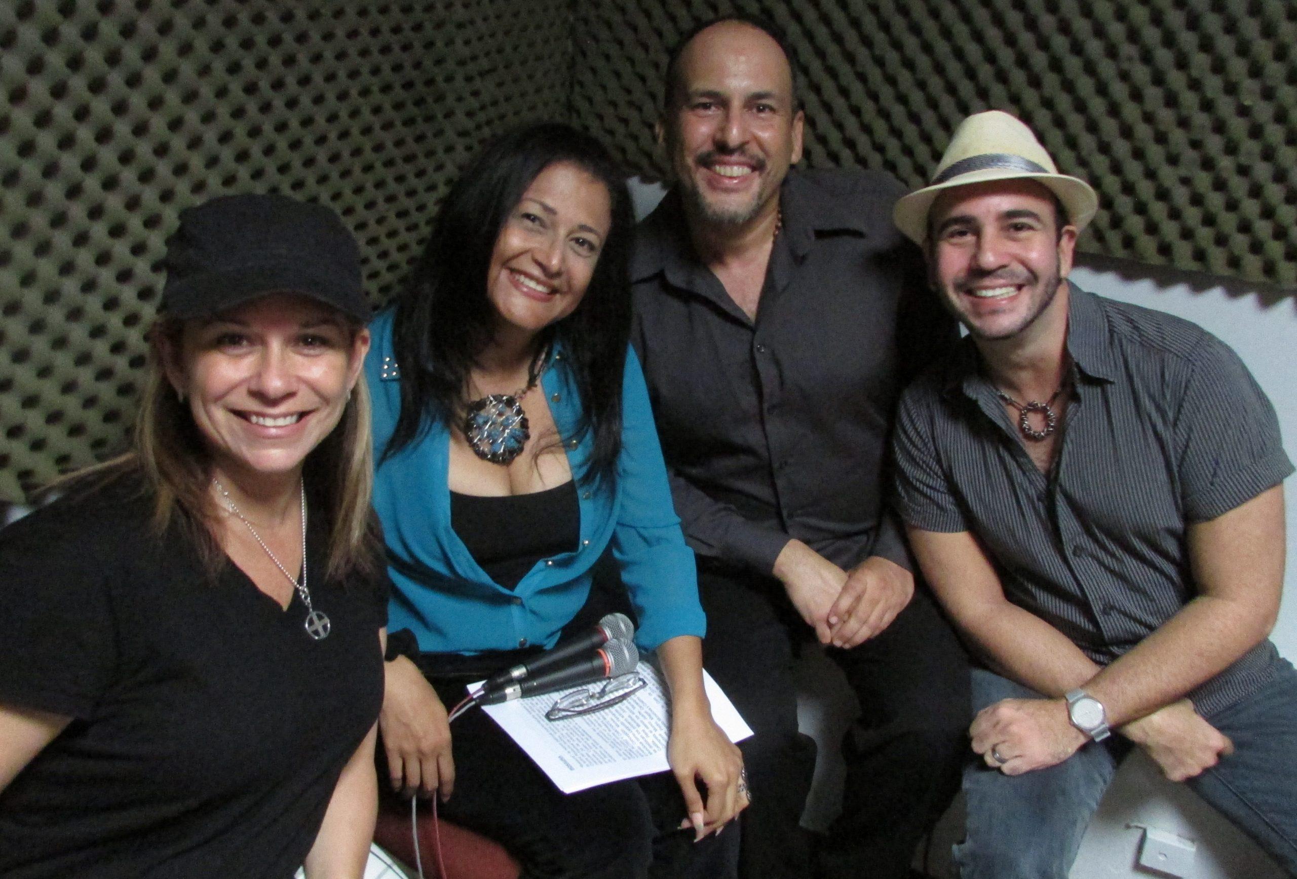 """Marisol Calero fue entrevistada en el programa radial """"Artefusión"""" por Adriana Pantoja, Javier Ortiz y Joselo Arroyo. (Foto Javier Santiago / Fundación Nacional para la Cultura Popular)"""
