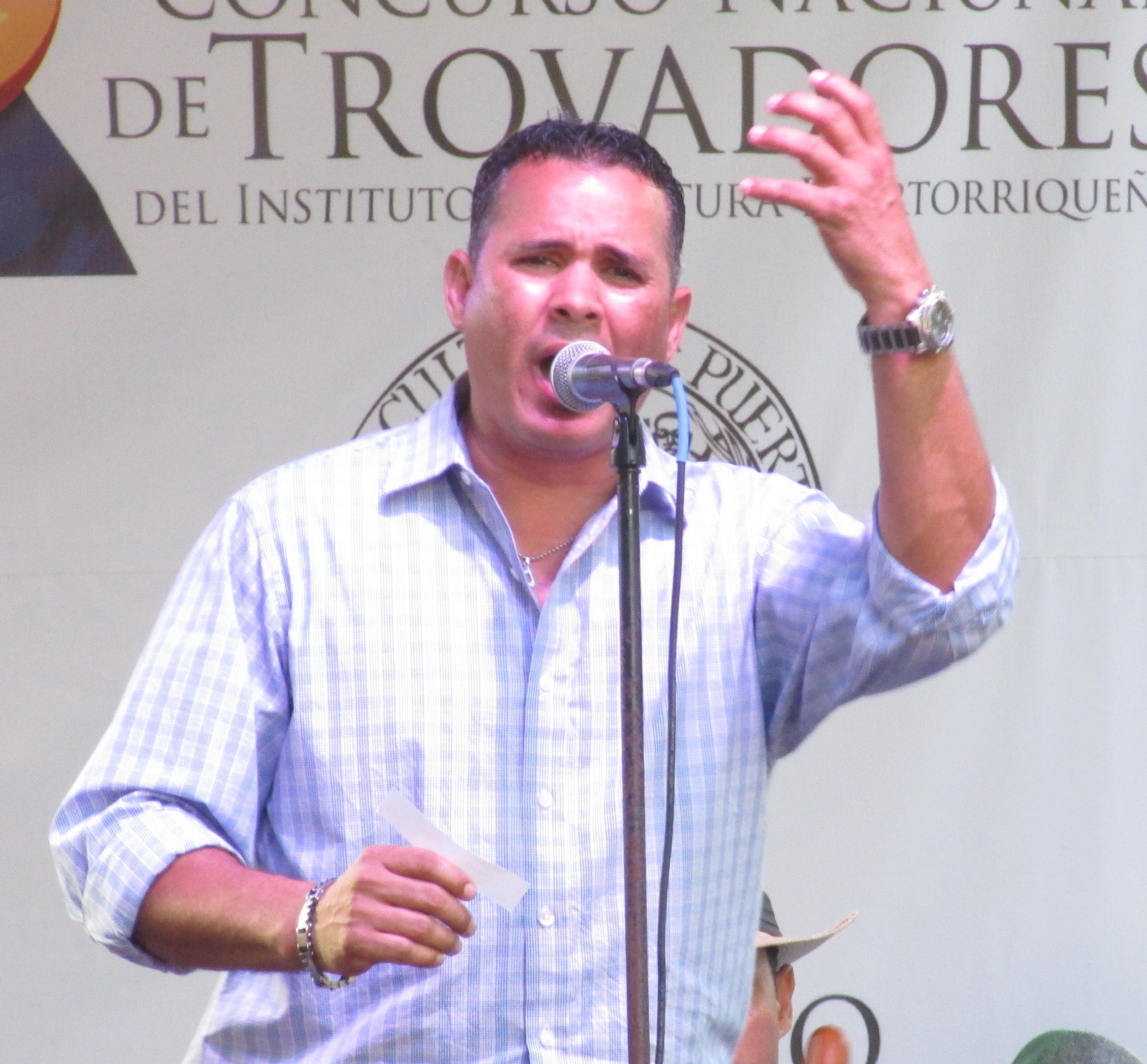 El trovador Samuel Quijano Huertas partcipó en el Concurso Nacional de Trovadores. (Foto Javier Santiago / Fundación Nacional para la Cultura Popular)