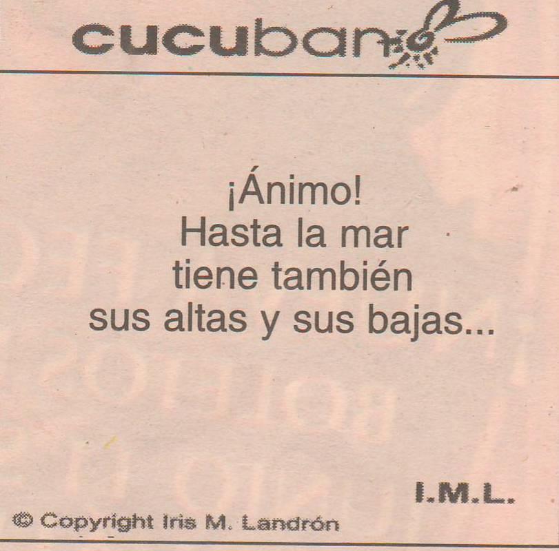 Los Cucucbanos de Iris María Landrón (I.M.L.) ocuparon las páginas de los diarios El Nuevo Día y El Vocero. (archivo Fundación Nacional para la Cultura Popular)