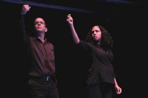 """Jorge y Carla Alemán fueron intérpretes en la reciente producción """"Testigos de la luna azul"""". (Foto suministrada)"""