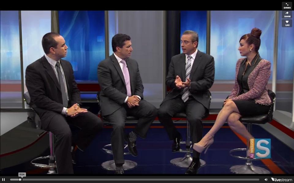 El gobernador Alejandro García Padilla ha participado como invitado en el programa que transmite Sistema TV. (Foto suministrada)
