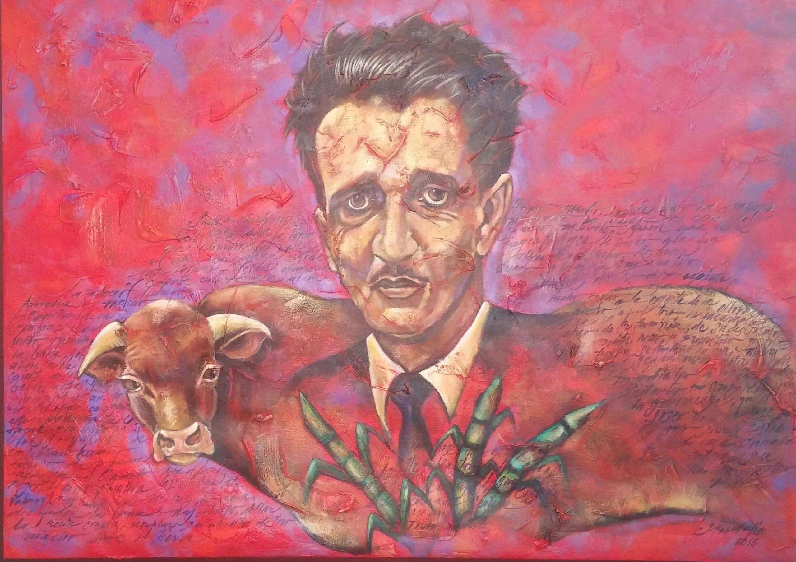 """La pieza """"Nostalgia de un pasado remoto"""", de la artista Grecia Rivera, encabeza la exposición Abelardo sus cuentos y sus estampas. (Foto Gabriela Ortiz para FNCP)"""
