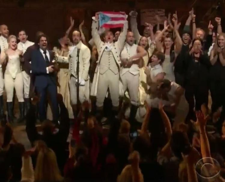 Momento de victoria en la pasada edición del Grammy según fuera proyectado al mundo a través de la cadena CBS.