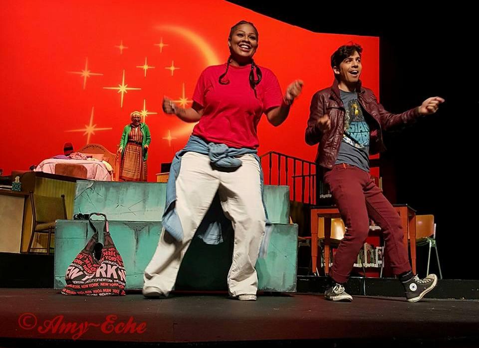 Lizmarie Quintana y Fernando Tarrazo formaron parte del elenco de la obra dirigida por Emineh de Lourdes. (Foto Amy - Eche)