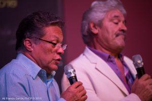 Luis Enrique Romero participa con Saldaña en este viaje musical a la nostalgia. (Foto Alí Francis García para Fundación Nacional para la Cultura Popular)