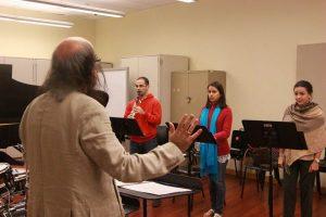 Con Natalia González Santaliz y Rocío De Los Ángeles. (Foto FB Álea 21)