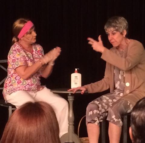 La actriz Marian Pabón escribió la pieza presentada en Punto Gijo. (Foto Joselo Arroyo para Fundación Nacional para la Cultura Popular)