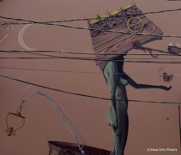 Mural hecho por el colectivo puertorriqueño 'Los de aquí'. (Foto Niza Ortiz)