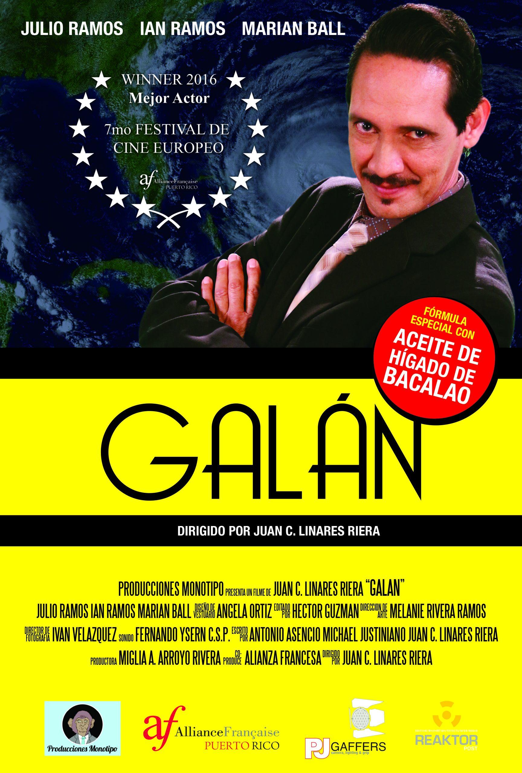 """El actor Julio Ramos protagoniza """"Galán""""."""