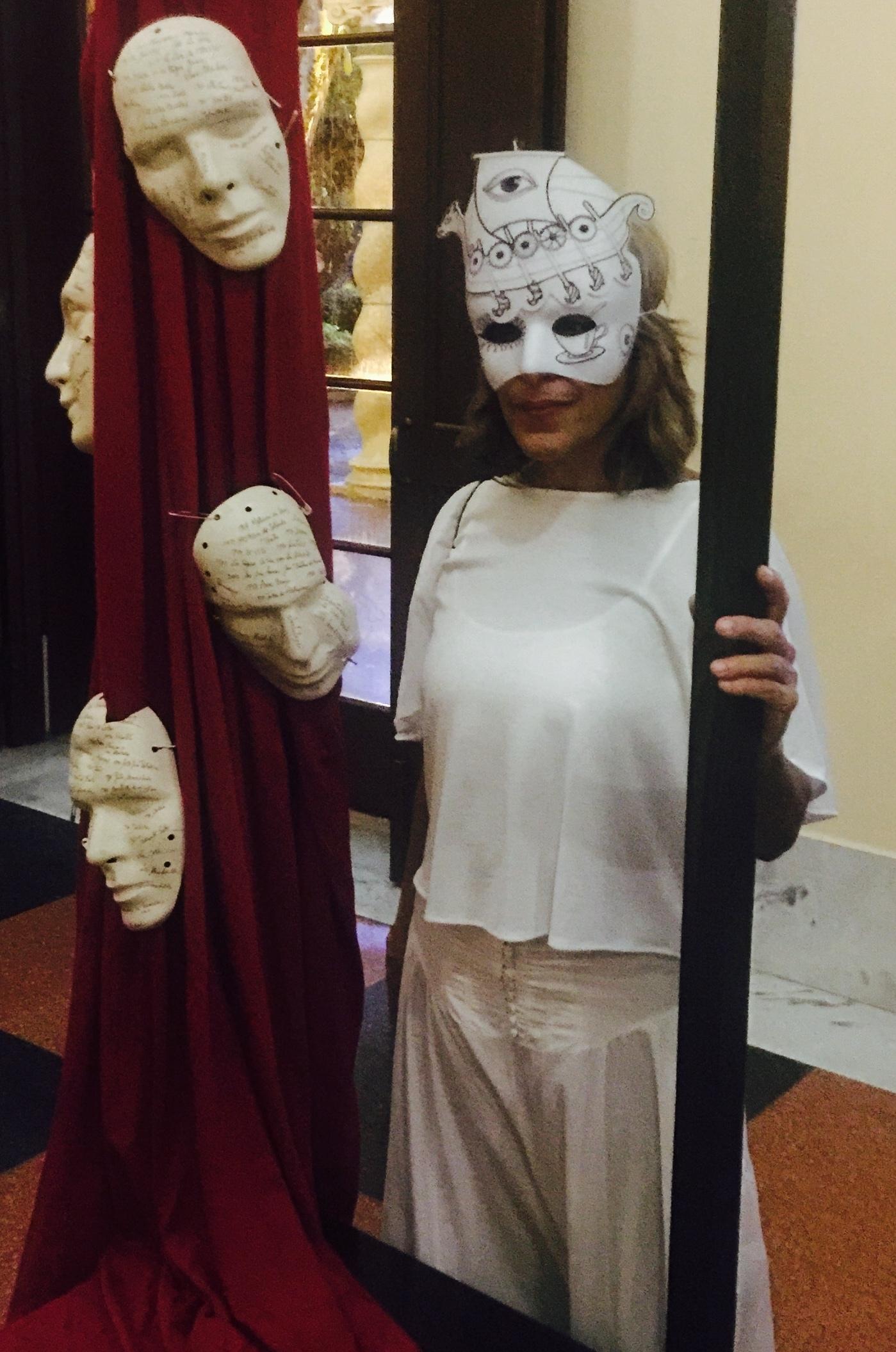 Las máscaras también fueron exhibidas en la antesala al homenaje póstumo. (Foto Alina Marrero para Fundación Nacional para la Cultura Popular)