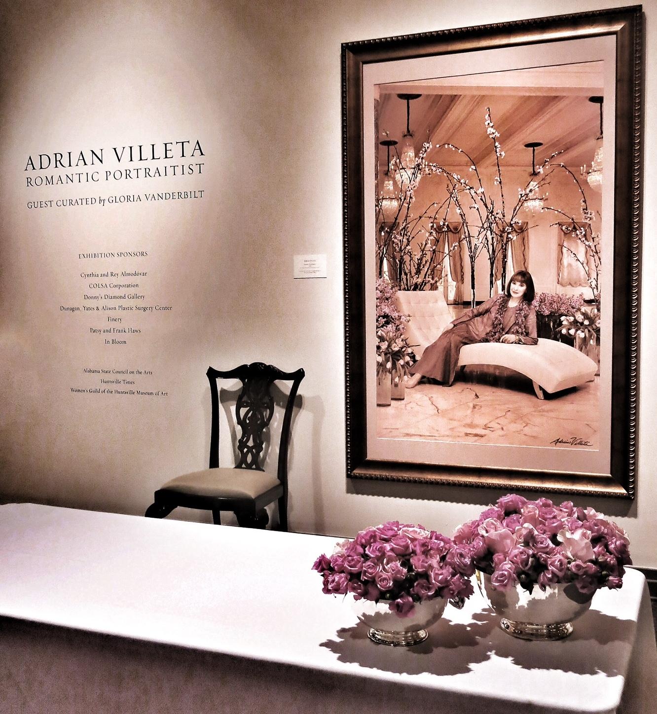 Retrato de Gloria Vanderbilt en el Hunstville Museum of Art en Alabama, Estados Unidos en la exhibición Adrián Villeta, Romantic Portraitis. (Foto suministrada)