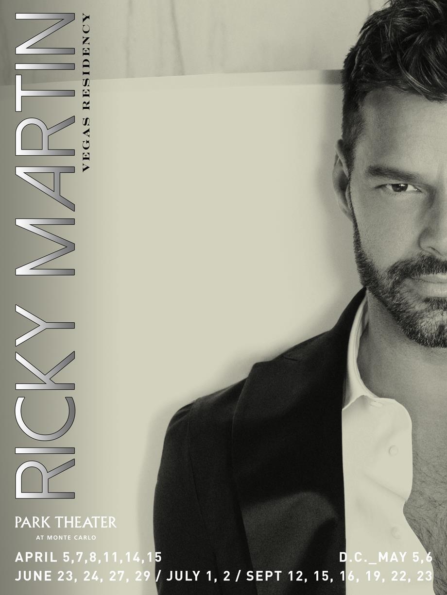 Anuncio oficial que establece a Ricky Martin como artista residente en 2017 del nuevo hotel de Las Vegas. (Foto suministrada)