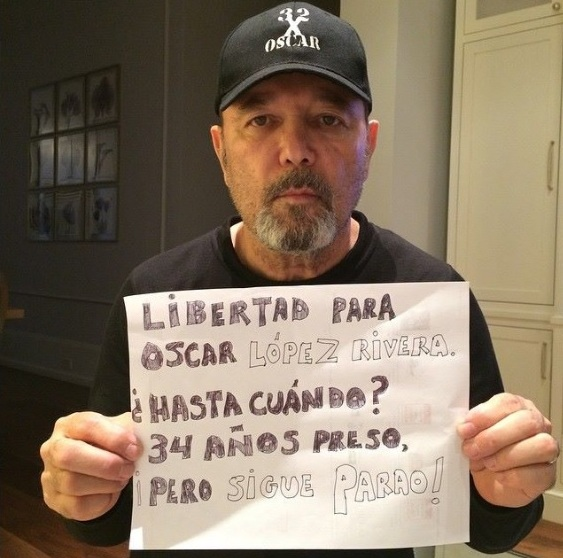 Figuras internacionales como Rubén Blades han expresado su apoyo a la petición de liberación de Oscar López Rivera. (FB Rubén Blades)