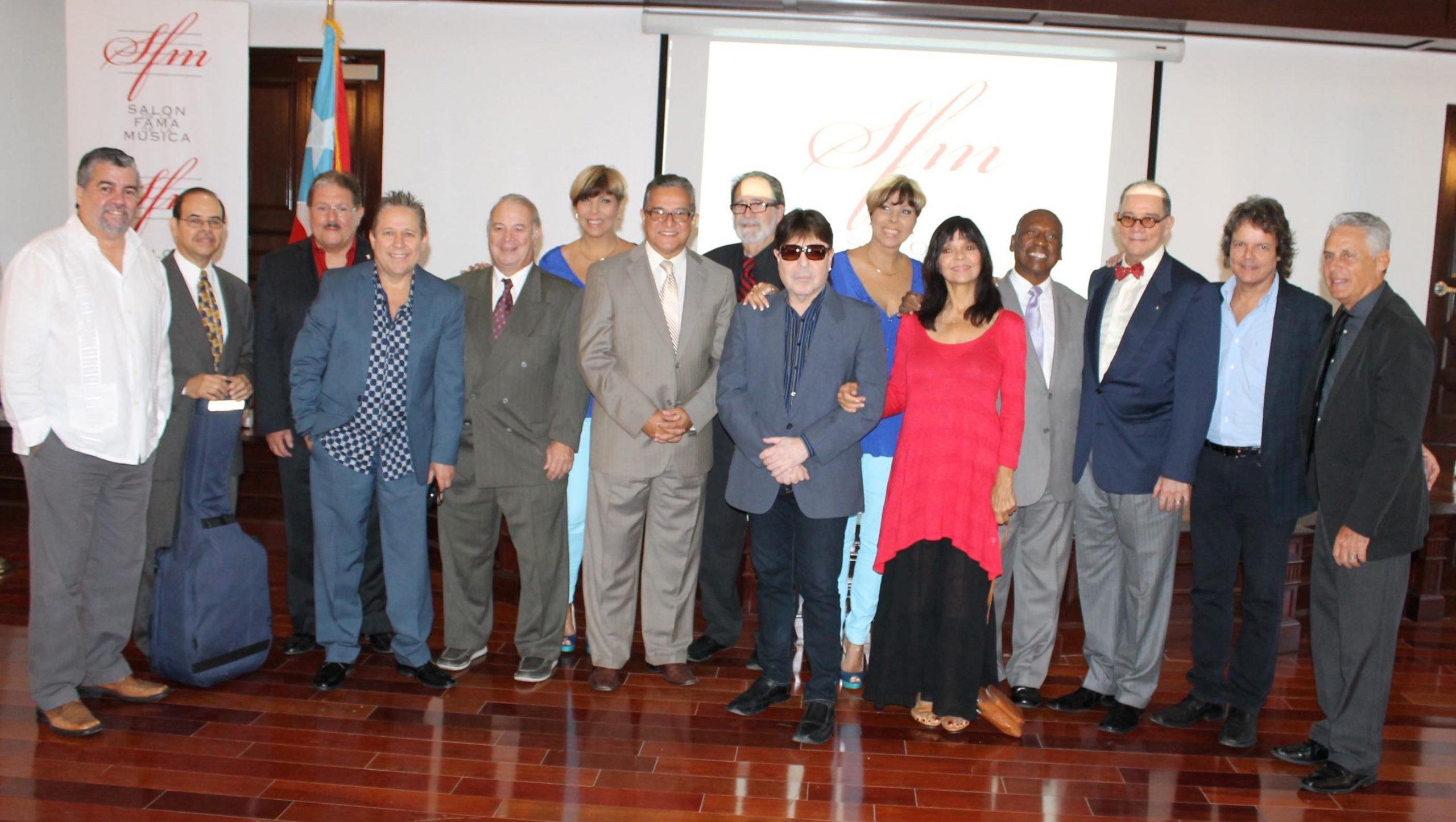 Numerosos artistas asistieron a la conferencia donde se anuninció sus respectivas nominaciones al Salón de la Fama. (Foto Edgar Torres para Fundación Nacional para la Cultura Popular)