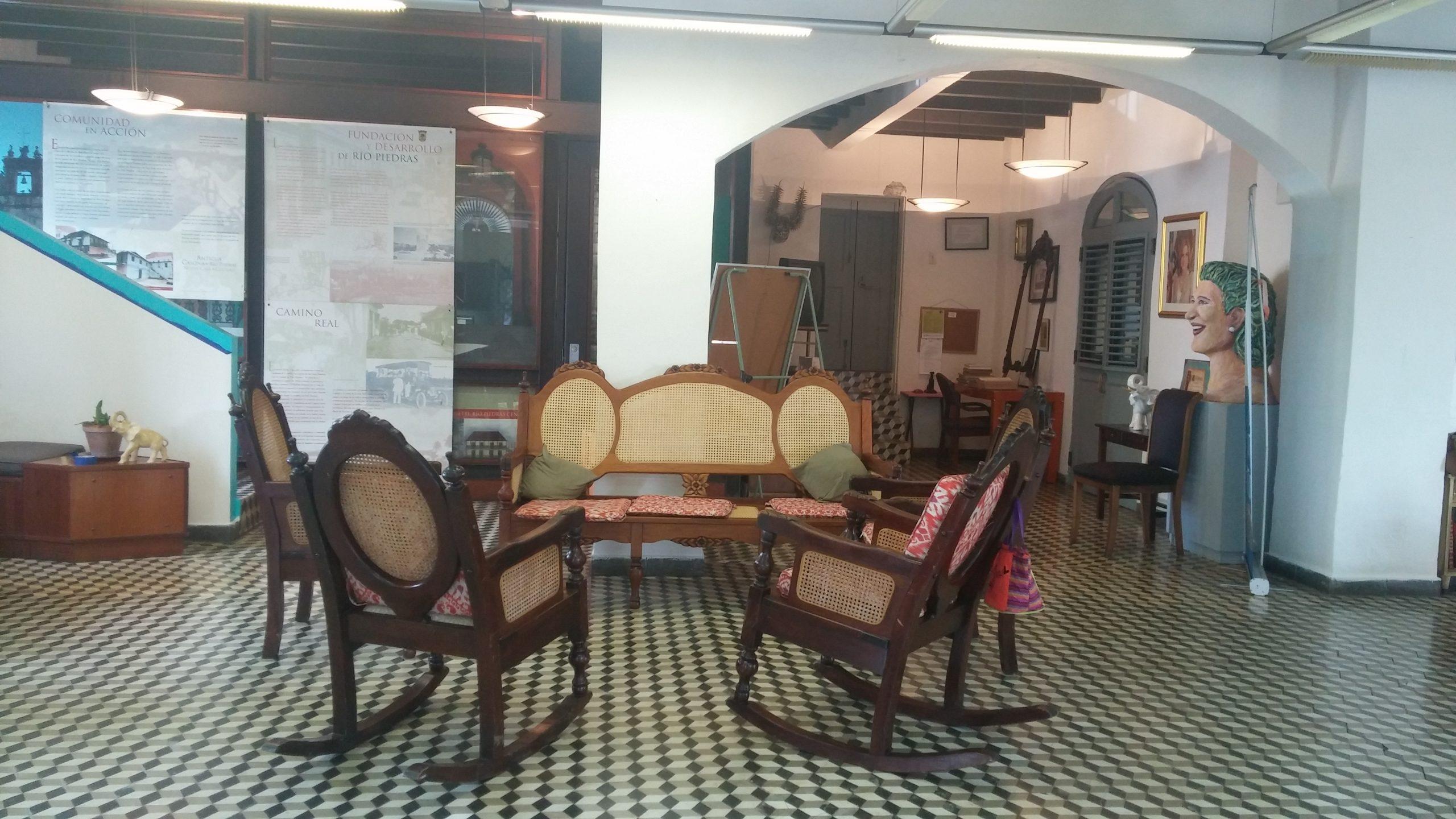 Una de las áreas de estar accesibles al público. (Foto Gabriela Ortiz para Fundación Nacional para la Cultura Popular)