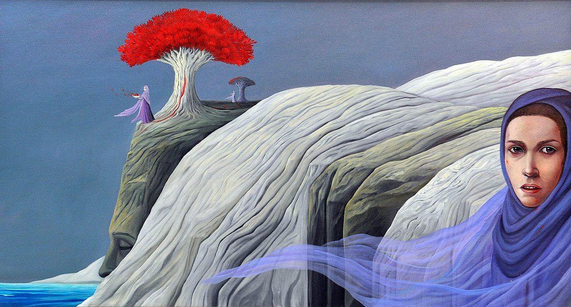 Uno de los óleos sobre tela de Lucía Maya expuestos en el Francisco Oller. (Foto Amigos de Bayamón FB)